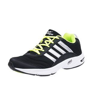 Campus 3G-378 BlacK Silver Green Sport Shoe