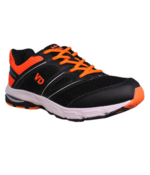 Campus Veedee 3G-379 Black Orange Sport Shoe