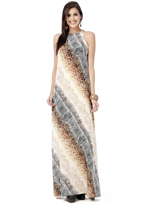 EAVAN Multi Color Printed Maxi  Dress EA1216