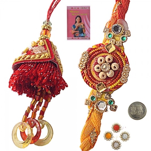 Send Affordable Designer Rakhi for Bhaiya Bhabhi 105