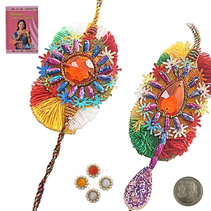Send Fashionable Online Rakhis 2 Bhaiya Bhabhi 108