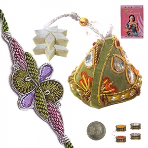 Send Excellent Bhaiya Bhabhi Rakhi Gift India 121