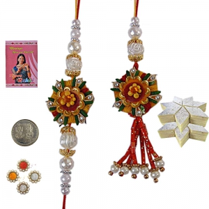 Send Online Bhaiya Bhabhi Exclusive Rakhi Gift 159