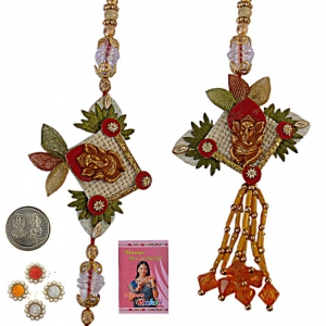 Send Indian Bhaiya Bhabhi Rakhi and Lumba Gift 164