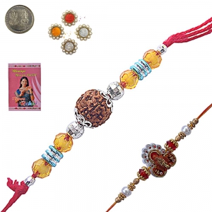 Send Jaipuri Ethnic Handcrafted Beads Rakhi India 102