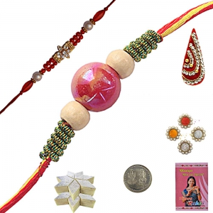 Send India Exclusive Handcrafted Beads Rakhi 103