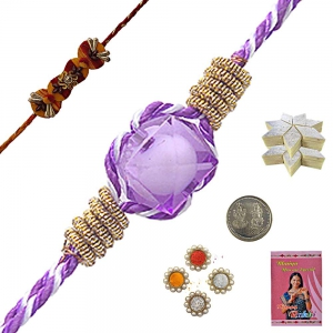 Send Colorful RakshaBandhan Online Beads Rakhi 111