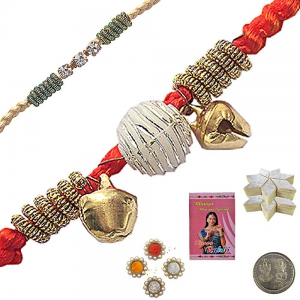 Send Exclusive Raksha Bandhan Cute Beads Rakhi 114