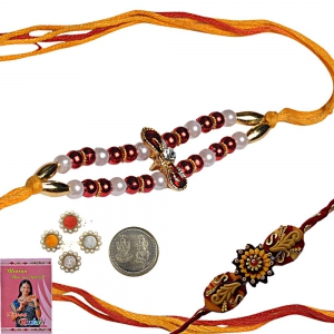 Rakshabandhan Colorful Beads Rakhi for Brother 135