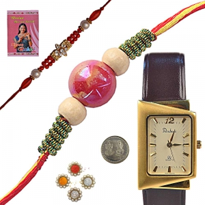 Unique Branded Gents Watch and Mauli Rakhi Gift 139