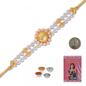 Colorful Handcrafted Designer Beaded Rakhi Gift 304
