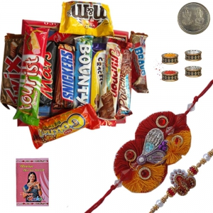Exquisite Mauli Rakhi n Imported Chocolate Gift 120