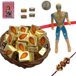 Cartoon Kid Rakhi n 300Gm Butter Chocolate Box 121