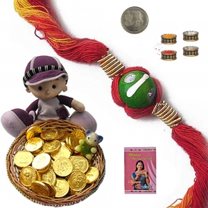 Stylish Mauli Rakhi n 100Gm Milk Chocolate Box 203