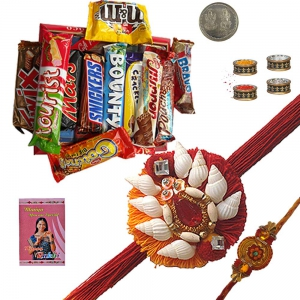 Send Online Mauli Rakhi n Imported Chocolate Gift 210