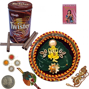 Twister Chocolate Wafer Box Pair n Pooja Thali 103