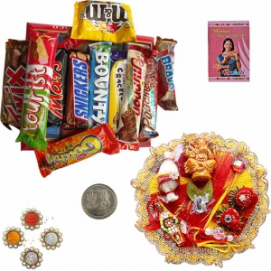 Rakhi Thali n Assorted Chocolate Collection 109