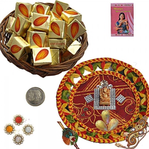 Trendy Rakhi Thali n 300Gm Butter Chocolate Box 110