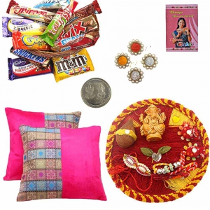 Pooja Thali Cushion Covers n 200Gm Chocolate Box 115