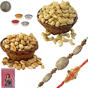 Exclusive Mauli Rakhi n 400Gm Kaju Pista Pack 101