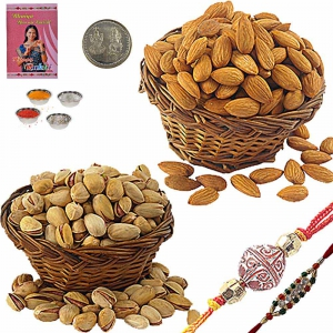 Send Exclusive Rakhi n 200Gm Badam Pista Pack 103