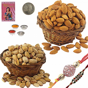 Send Exclusive Rakhi n 400Gm Badam Pista Pack 103