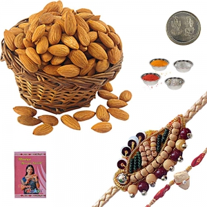 Beautiful Mauli Rakhi n 400Gm Tasty Badam Dryfruit 116