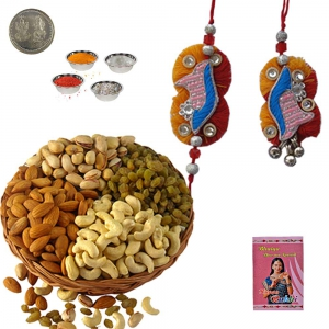 Bhaiya Bhabhi Rakhi n 200Gm Selected Dryfruit 223