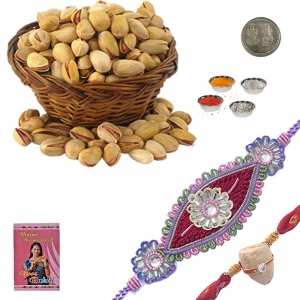 Exclusive Dazzling Rakhi n 200Gm Pistachio Pack 231