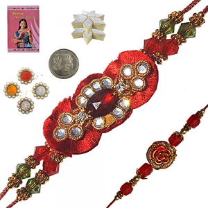 Send Jaipuri Handcrafted Rakhi Gift to Brother 121