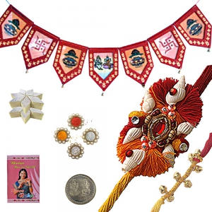 Send Door Hanging Rakhee Gift n 200Gm Kaju Katli 124