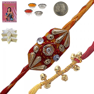 Send Gifts for Brother n Designer Mauli Rakhi 125