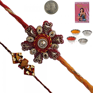 Rajasthani Unique Designer Rakhi Gift for Brother 126