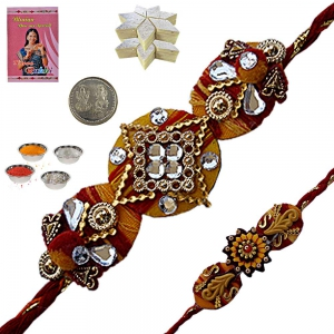 Send Brother Gorgeous Rajasthani Ethnic Rakhis 136
