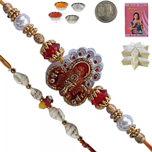 Send Appealing Rakhi Gift n 400Gm Fresh Kaju Katli 138