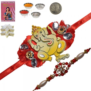 Send Brother Rakhi Gifts n 200Gm Kaju Katli Sweet 157