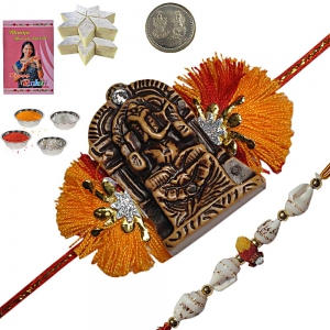 Send Handcrafted Rakhi Festival Gifts to Brother 158