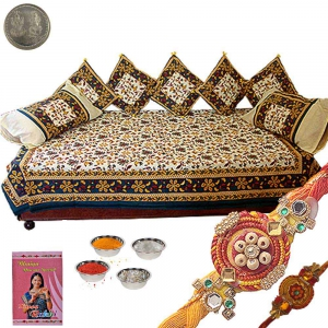 Jaipuri 8 Piece Dewan Set Exclusive Rakhi Gift 353