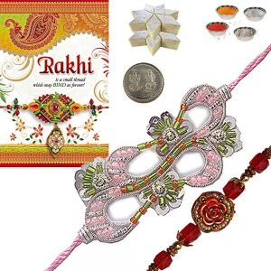 Colorful Brother Rakhi Gift n 200Gm Sweet Sweet 109