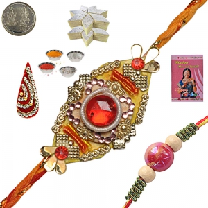 Rajasthani Handcrafted Rakhee Gifts to Brother 116