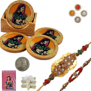Handcrafted Tea Coasters n Excellent Rakhi Gift 111