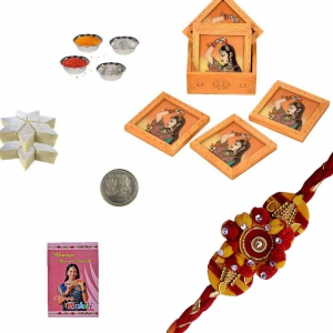 Handcrafted Jaipuri Tea Coasters n Excellent Rakhi