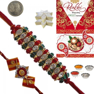Sending Online Beautiful Rakhi Gift to Brother 105