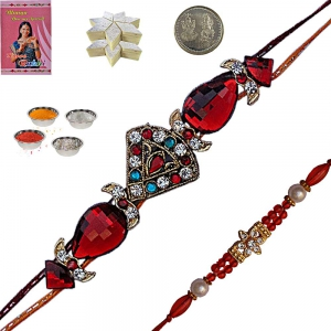Shopping Online Jewel Rakhis n 200Gm Kaju Katli 109