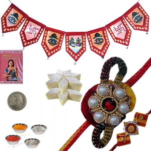Door Hanging Rakhi Gift n 400Gm Kaju Katli Sweet 113