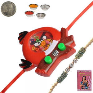 Sending Cute Cartoon Rakhi Gift for Kid Brother 153