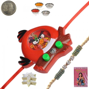 Cartoon Rakhi for Kid Brother n 400Gm Kaju Katli 153
