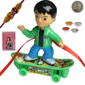 Latest Design Cartoon Rakhi Gift to Kid Brother 154