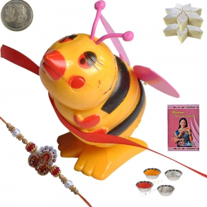 Honey Bee Cartoon Rakhee n 400Gm Kaju Katli Sweet 159