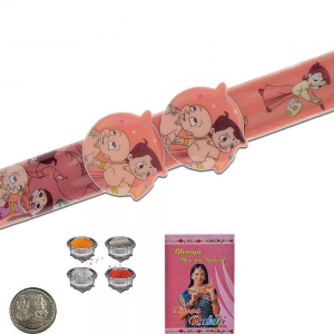 Chhota Bheem Flexible Strap Design Kids Rakhi Gift 316